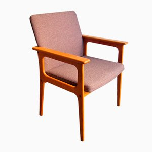 Vintage Danish Oak Armchair, 1970s