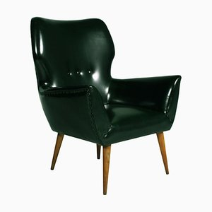 Vintage Italian Leatherette Lounge Chair from Gio Ponti, 1930s