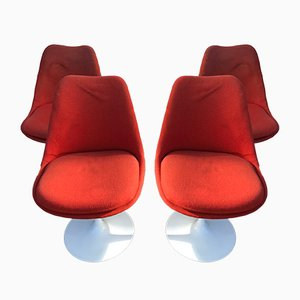 Tulip Esszimmerstühle von Eero Saarinen, 1950er, 4er Set