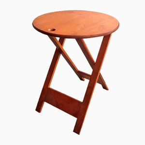 Tavolino pieghevole vintage, anni '70