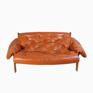 Mid-Century Tufted Leather Sofa, 1970s