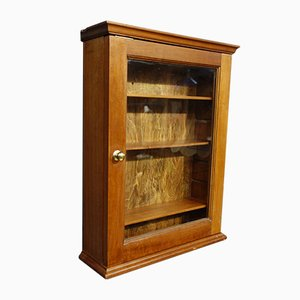 Vintage Glass Fronted Post Office Wall Cabinet, 1920s