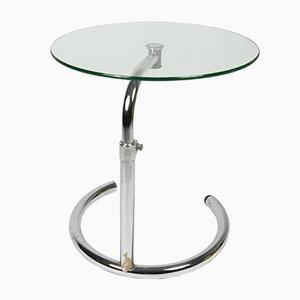 Table Basse en Verre avec Porte-Revues de Kokoon Design, 1980s