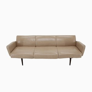 Mid-Century Leather Sofa by Miroslav Navratil, 1970s