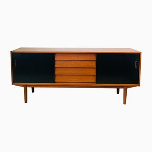 Black Lacquered Teak Model Trio Sideboard by Nils Jonsson for Hugo Troeds, 1960s