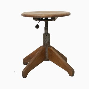 Mid-Century Swivel Stool from Stoll Giroflex, 1950s