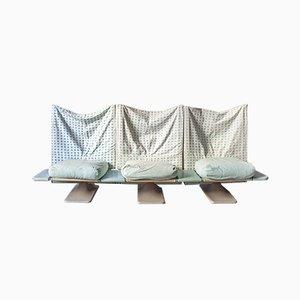 Sofá de tres plazas modelo AEO de Paolo Deganello para Cassina, años 70