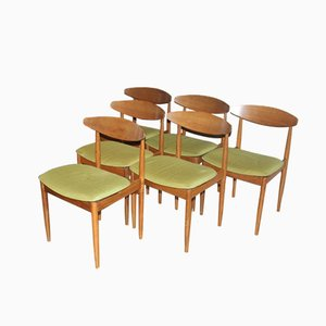 Model Danish Teak Dining Chairs by Ib Kofod Larsen for G-Plan, 1963, Set of 6