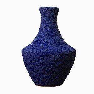 Blaue Vintage Nr. 29/20 Vase von Silberdistel Keramik, 1970er