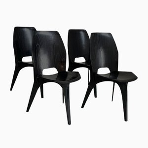 Dining Chairs by Eugenio Gerli for Tecno, 1950s, Set of 4