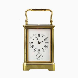 Antique Carriage Alarm Clock from Leroy et Cie