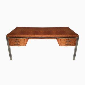 Vintage French Burlwood Desk