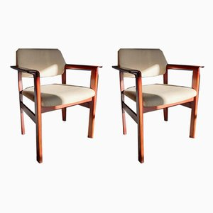 Mid-Century Rosewood Armchairs from Sibast, Set of 2