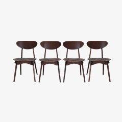 Chaises de Salon Vintage par Louis van Teeffelen pour Wébé, Set de 4