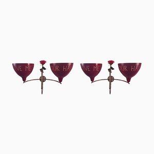 Italienische Wandlampen, 2000er, 2er Set