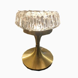 Brass and Glass Table Lamp from Arlus, 1960s
