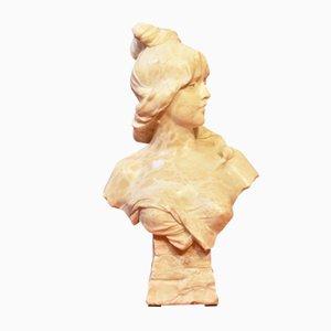 Antike Skulptur aus Alabaster von Alphonse Henri Nelson