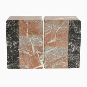 Art Deco Marble Bookends, 1930s, Set of 2