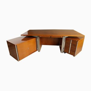 Rosewood Corner Desk Set by Ico Parisi for MIM Roma, 1960s