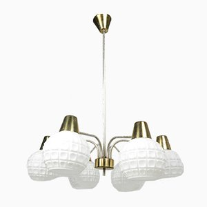 Mid-Century Adjustable Ceiling Lamp from Kamenický Šenov Czechoslovakia