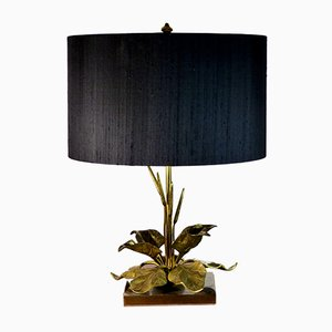 Vintage Gilded Brass Table Lamp