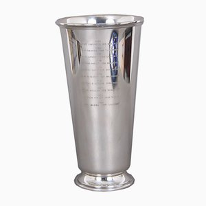 Vase aus Sterling Silber von Svend Toxværd, 1970er