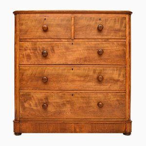 Large Antique Victorian Satin Birch Dresser