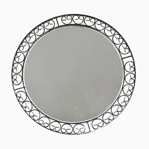 German Metal Round Mirror, 1960s