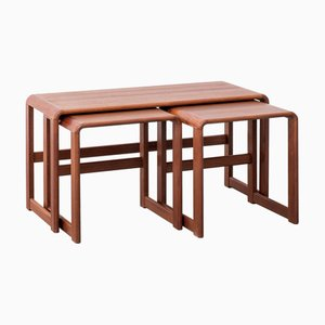 Tavolini ad incastro grandi in teak, anni '70