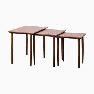 Tavolini ad incastro in teak di Fabian, Danimarca, anni '60