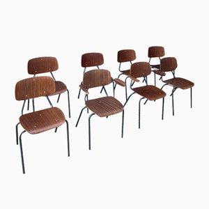 Vintage Stuhl Set von Kho Liang Ie, 1960er, 8er Set