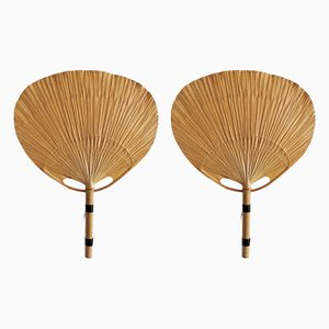 Uchiwa Sconces by Ingo Maurer for Mdesign, 1970s, Set of 2