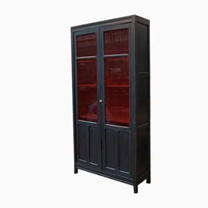 Vintage Black and Red Cabinet, 1940s