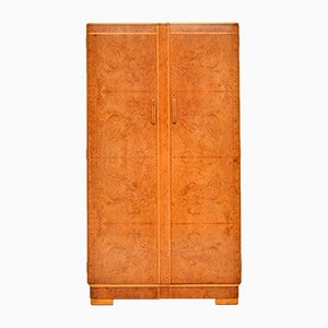 Art Deco Burl Walnut Wardrobe, 1920s