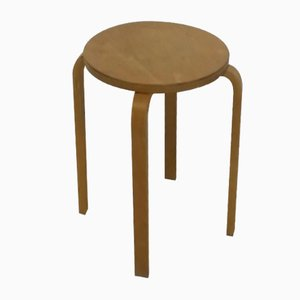 Scandinavian Plywood Stool by Alvar Aalto, 1970s
