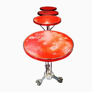 Mesa de centro vintage en rojo
