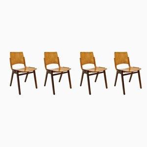 Vintage Modell P7 Esszimmerstühle von Roland Rainer für Pollak, 1950er, 4er Set