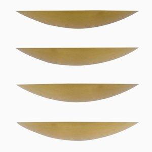 Apliques vintage de latón dorado de Kalmar. Juego de 4