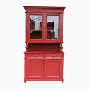 Buffet Antique en Bois Tendre Rouge