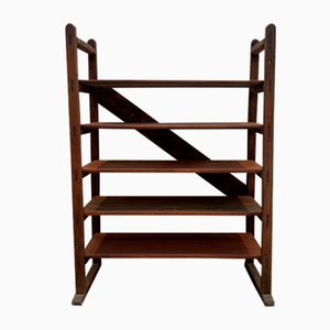 Vintage Industrial Wooden Shelf, 1920s