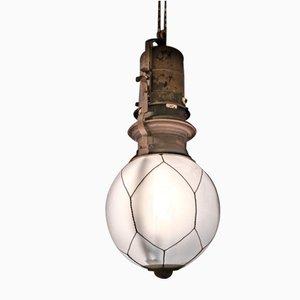 Lámpara de araña industrial vintage de Peter Behrens para AEG, década de 1900