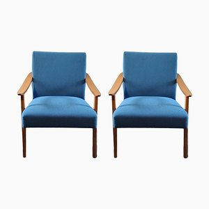 Vintage German Armchairs, Set of 2