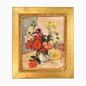Pintura al óleo Art Déco de Charles Kvapil, años 30