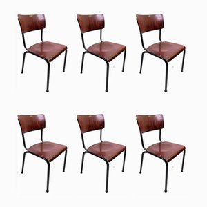Rosewood School Chairs from Pag, 1968, Set of 6