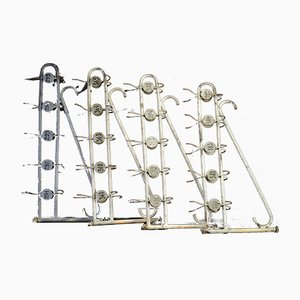 Industrial Swivel Coat Racks, 1950s, Set of 4
