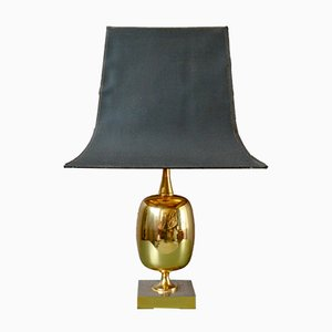 Large Regency Brass Table Lamp, 1960s