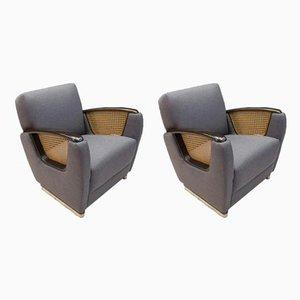 Art Deco Italian Club Chairs, 1950s, Set of 2