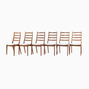 Mid-Century Esszimmerstühle aus Teak von Kai Kristiansen für Korup Stolefabrik, 1960er, 6er Set