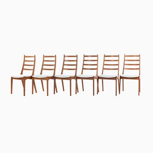 Mid-Century Teak Dining Chairs by Kai Kristiansen for Korup Stolefabrik, 1960s, Set of 6