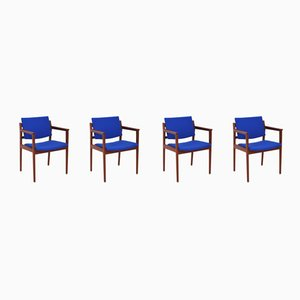 Mid-Century Armchairs by Karl-Erik Ekselius for JOC Vetlanda, Set of 4